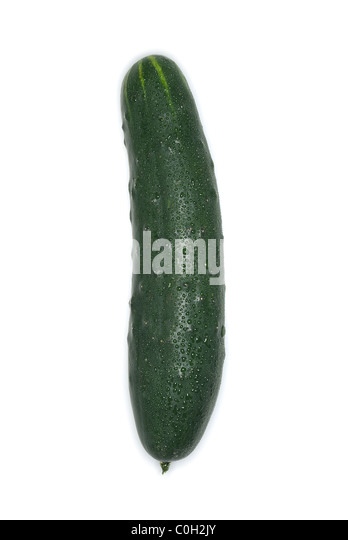 Cucumber isolated on white background - Stock Image