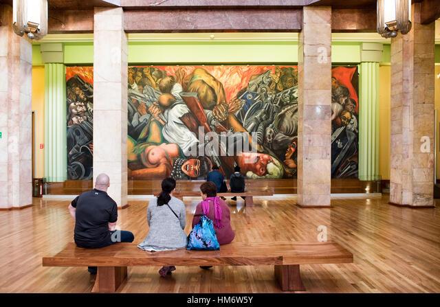 Historical mural stock photos historical mural stock for Sanborns bellas artes