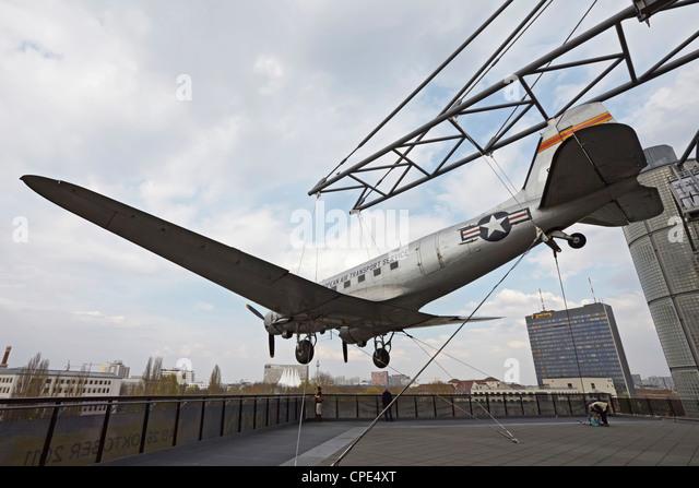 Berlin Deutsches Technikmuseum Douglas C-47 Skytrain - Stock Image