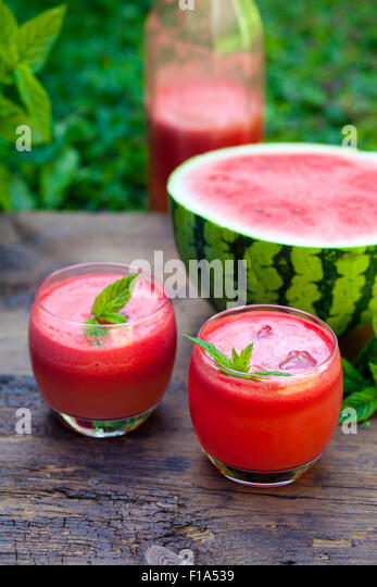 Watermelon  cocktail - Stock Image