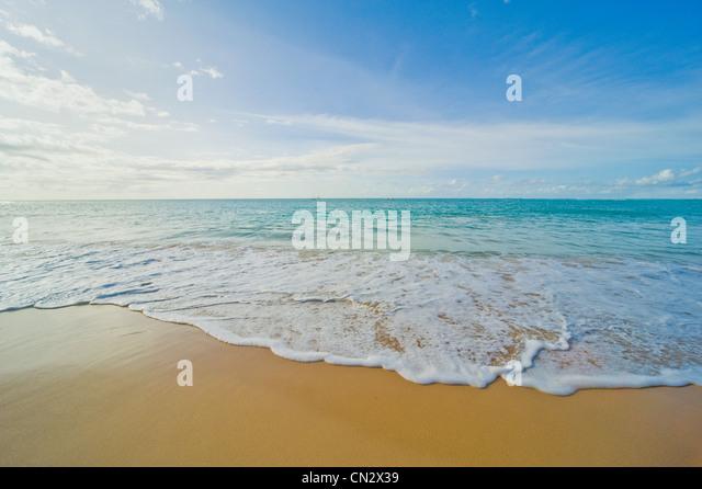 Idyllic beach and sea, Pigeon Point, Tobago - Stock Image