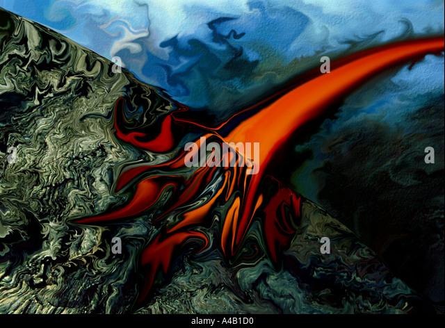 Artistic abstraction - lava - Stock-Bilder