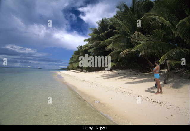 Perfect girl on perfect Beach - Stock Image