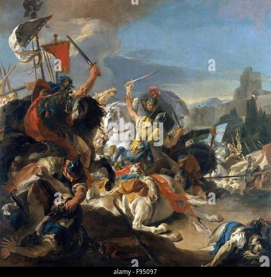 Giovanni Battista Tiepolo - The Battle of Vercellae - Stock Image