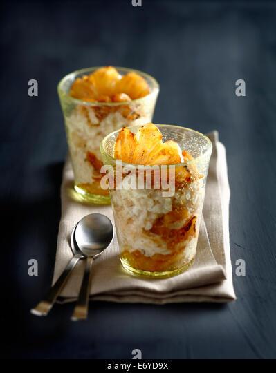 Coconut risotto - Stock Image