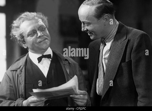 Hubert von Meyerinck in a movie scene - Stock-Bilder