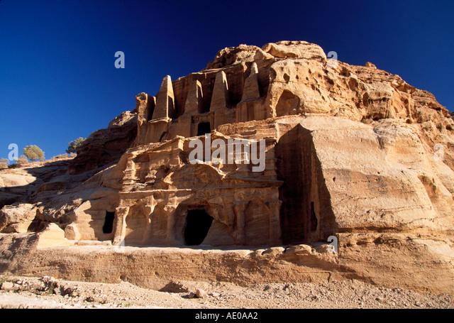 Graves in Petra Jordan - Stock Image