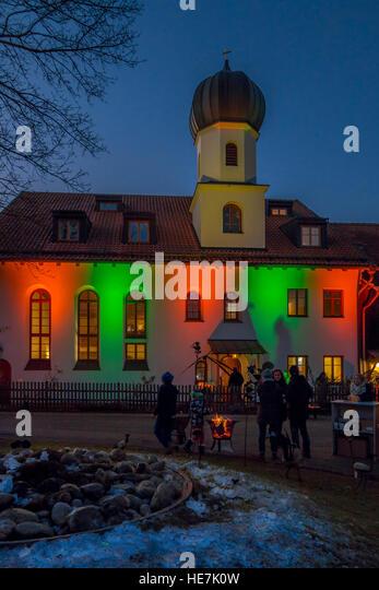 Christmas Market at Gut Dietlhofen, Peter Maffay Foundation, Bavaria, Germany - Stock Image