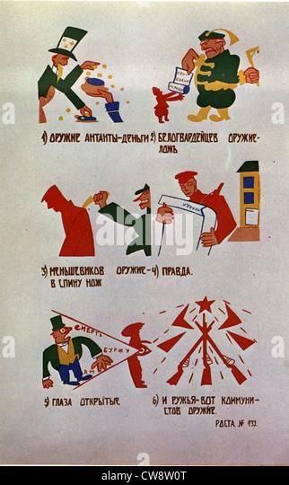 Political poster by Vladimir Maiakovsky - Stock Image