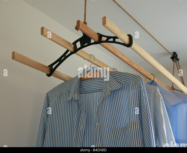 clothes drying inside stock photos clothes drying inside. Black Bedroom Furniture Sets. Home Design Ideas