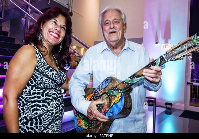 Hialeah Florida Milander Center for Arts & Entertainment centre inside La Mano Hispana show gallery art opening - Stock Image