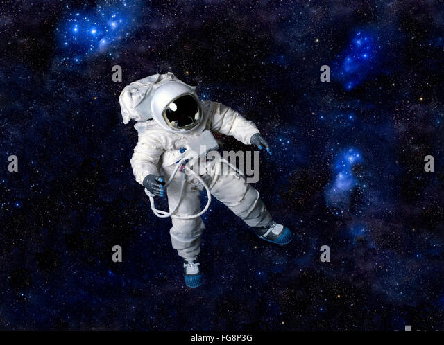 Astronaut in space suit stock photos astronaut in space for Outer space leicester
