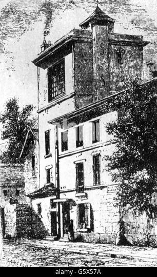 Louis Jacques Mande Daguerre, his house, 19th century - Stock Image