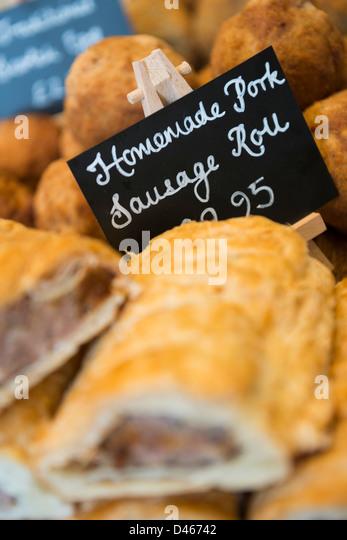 Pork sausage roll - Stock Image