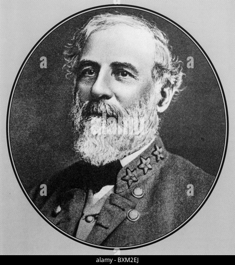 ROBERT E LEE (1807-1870) commanding general of the Confederate Army  during the American Civil War - Stock Image