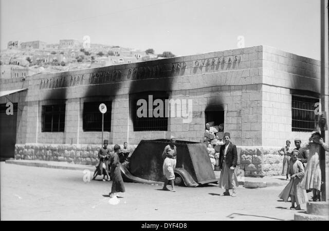 Hebron Attack 1938. - Stock Image