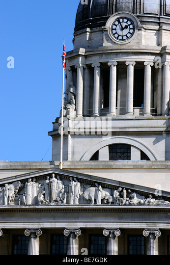 The Town Hall that houses the Galleries of Justice in Nottingham, England - Stock Image