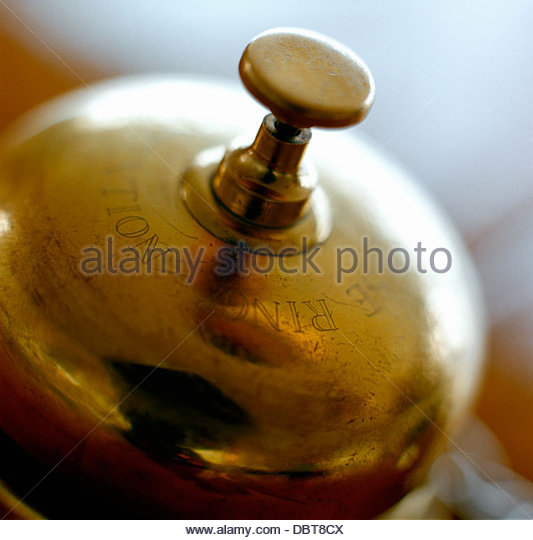 Stockholm, Close up of service bell - Stock Image