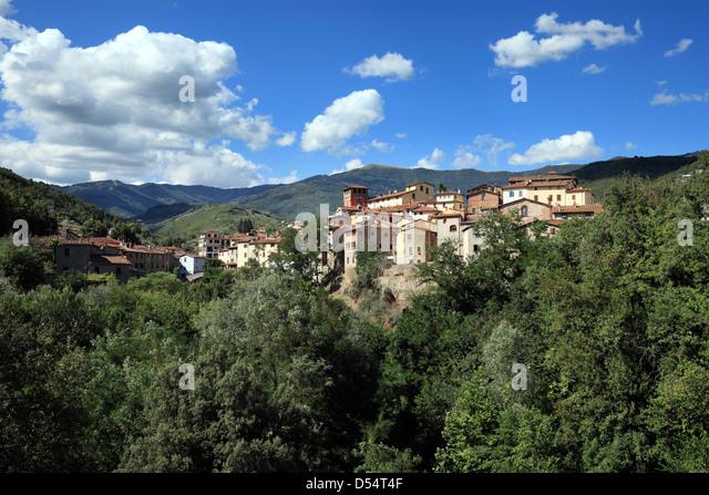 Loro Ciuffenna, Italy, typical Tuscany landscape - Stock Image