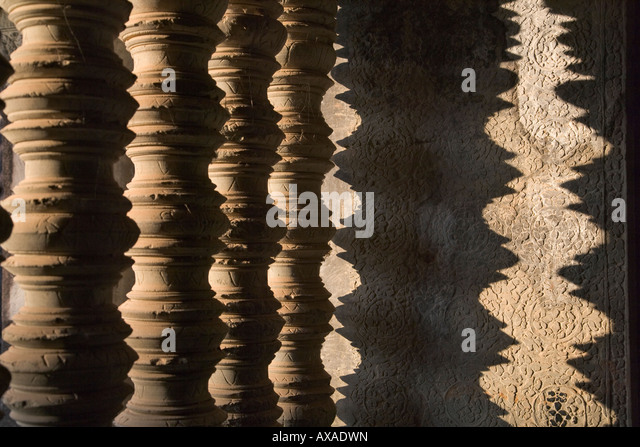 Architectural details in Angkor Wat Cambodia - Stock-Bilder