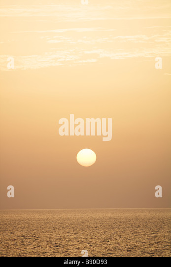 Sunset the Canary Islands. - Stock Image