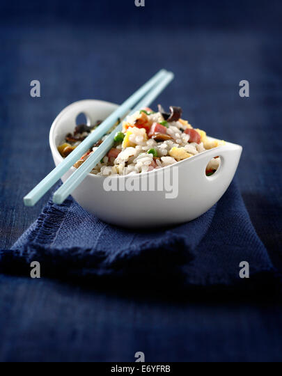Cantonese rice - Stock Image