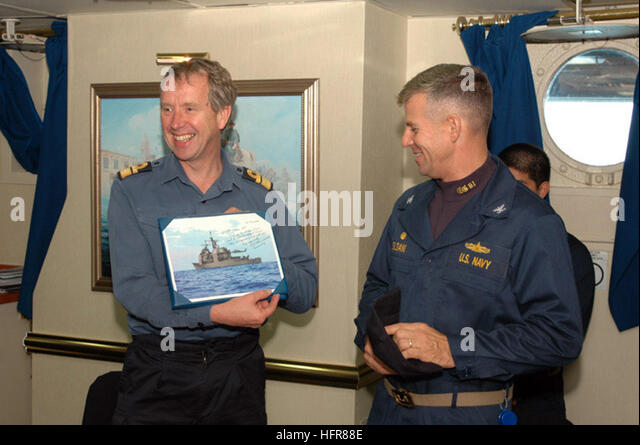 060626-N-7092S-123 Atlantic Ocean (June 26, 2006) - Chief of Staff (Capability) to Commander in Chief Fleet, British - Stock Image