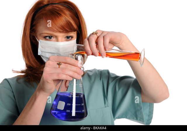 Woman in laboratory - Stock Image