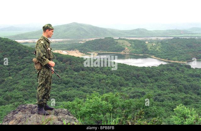 60 th anniversary of the khasan lake battles - Stock Image