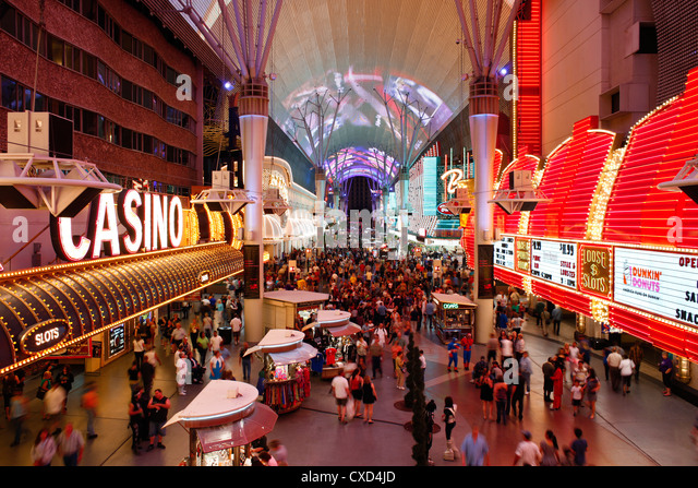 The Freemont Street Experience in Downtown Las Vegas, Las Vegas, Nevada, United States of America, North America - Stock Image