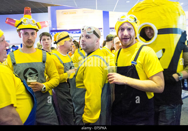 Butlins stag do party at Minehead punk weekender - Stock Image