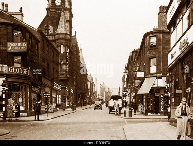 Huddersfield King Street probably 1940s - Stock Image
