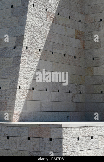 Detail of a ledge and a stone wall - Stock Image