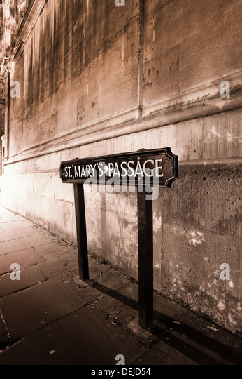 Oxford sign at night, - Stock-Bilder