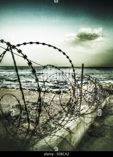 Restricted beach - Stock Image