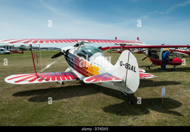 Christen Eagle 2 on display during the 2013 RAF benevolent airshow at Shoreham Sussex UK - Stock-Bilder