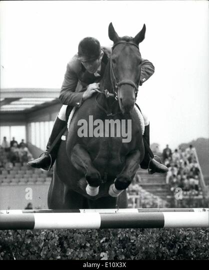 Jul. 07, 1974 - World show jumping championship at Hichstead : photo shows The defending champion, Britain's - Stock Image
