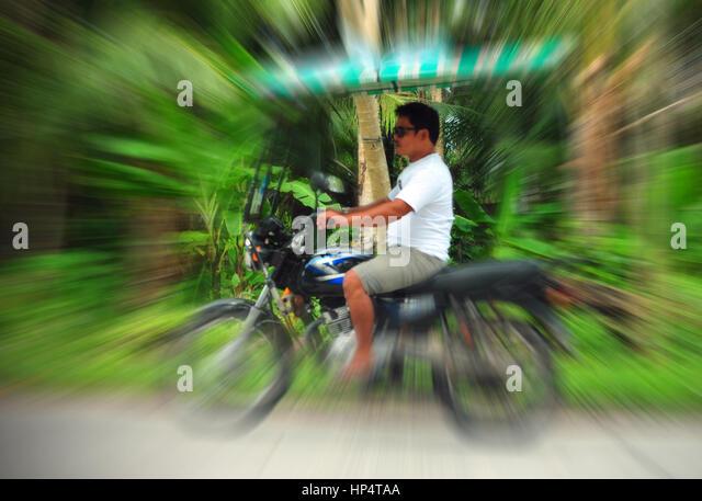 Motorbike Taxi, Siargao Island, Philippines - Stock-Bilder
