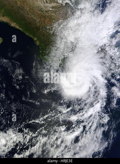 Hurricane Raymond, October 22, 2013 - Stock Image