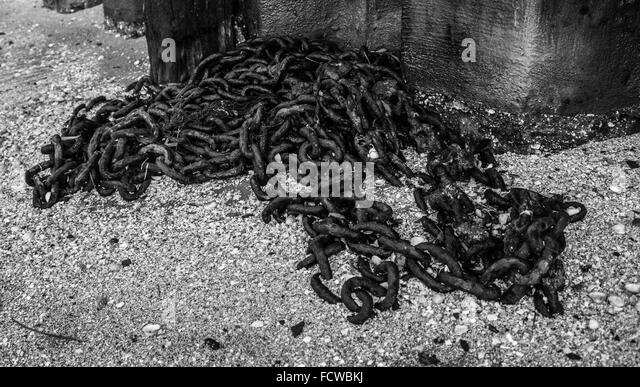 Chain on the Beach, Leigh on Sea - Stock Image
