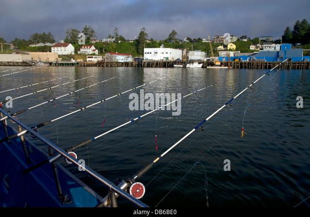 Charter fishing boat harbor stock photos charter fishing for Newport oregon fishing charters