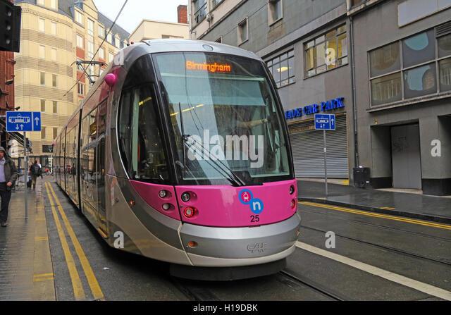 Birmingham tram - Stock Image