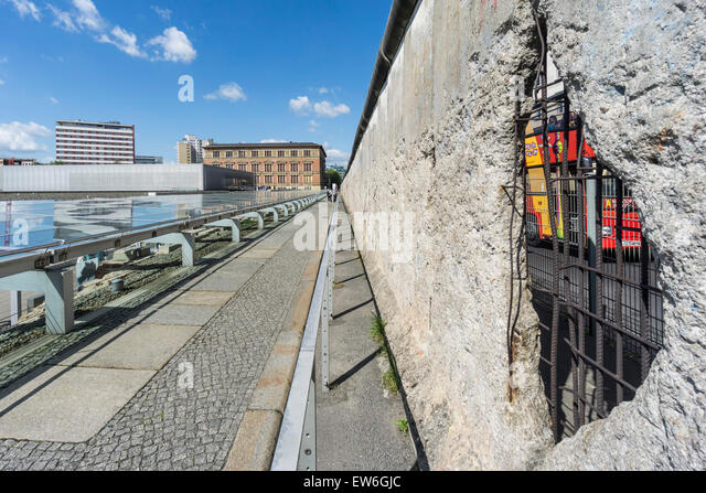 Topography of Terror, Documentation Center of Nazi Terror , Berlin Wall, Berlin, Germany - Stock Image