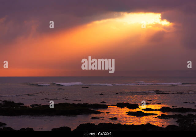 Sunrise at the sea. - Stock Image