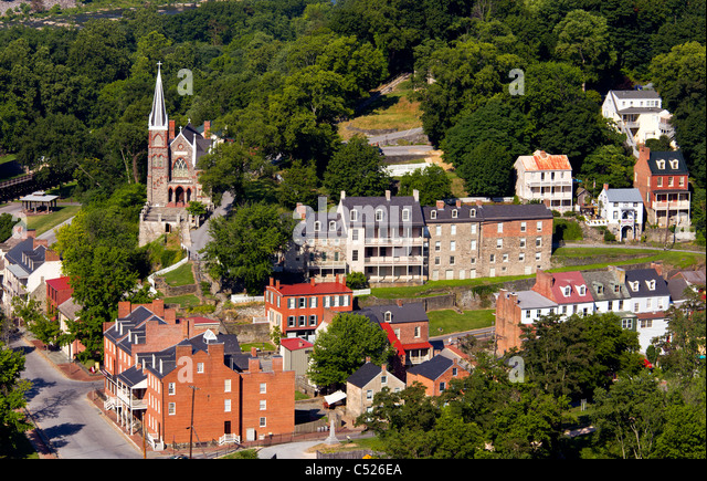 Harpers Ferry in Jefferson County, West Virginia, USA - Stock Image