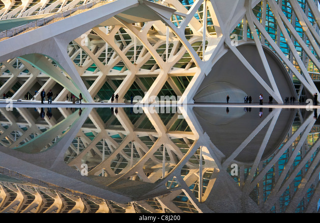 Spain, Europe, Valencia, City of Arts and Science, Calatrava, architecture, modern, - Stock Image