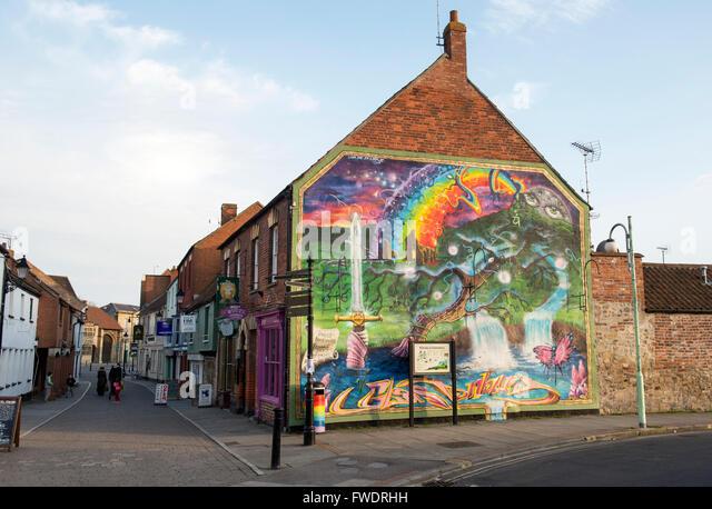 Glastonbury art stock photos glastonbury art stock for England wall mural