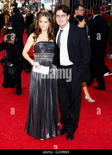 MAVRIXPHOTO.COM Charlie Sheen at the 60th Primetime Emmy Awards held at the Nokia Theater in Los Angeles, California, - Stock-Bilder