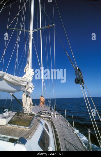 Ocean Sailing Yacht - Stock Image