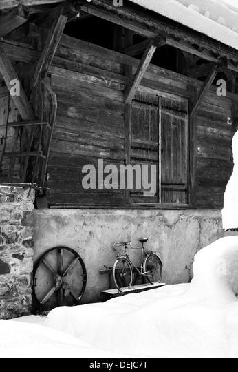 French Barn taken in Morzine, France, Near Lake Montriond - Stock-Bilder